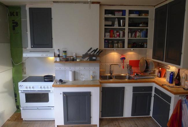 Så här såg köket ut före det blev ett snickeritillverkat Funkiskök.