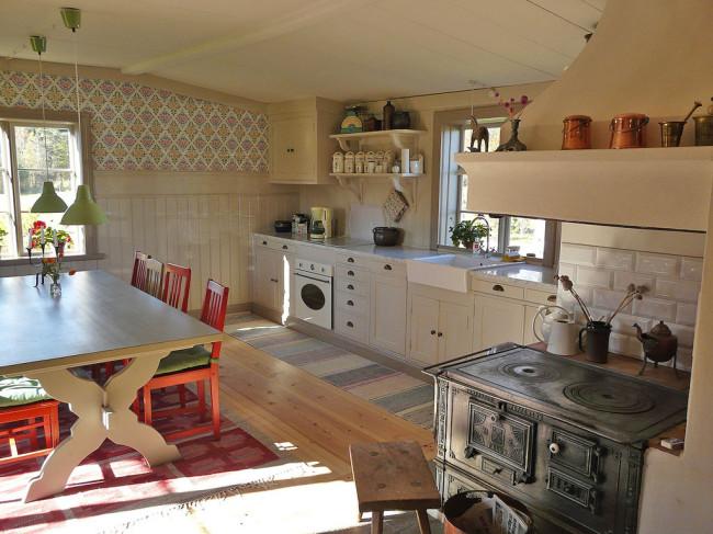 Vi har byggt köksinredningen i Sammilsgården i Dalarna