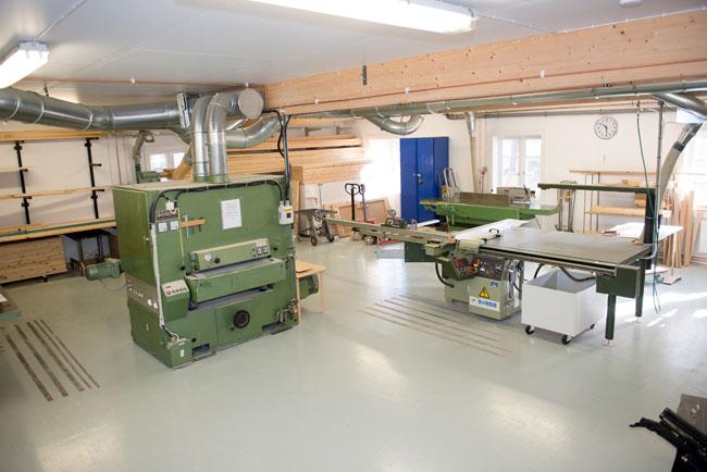 I verkstaden hos Snickeri Tallkotten i Bollnäs, Hälsingland